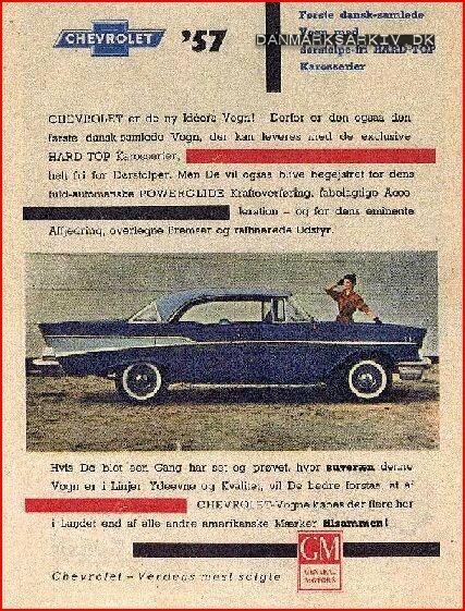 GM samlede den ikoniske 1957 Chevy i Københavns sydhavn - 1957
