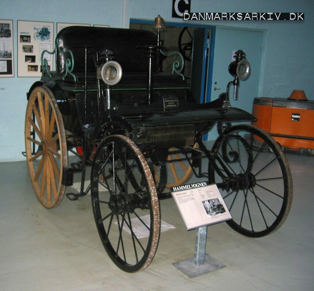 Hammelvognen fra 1888, parkeret på Danmarks Tekniske Museum