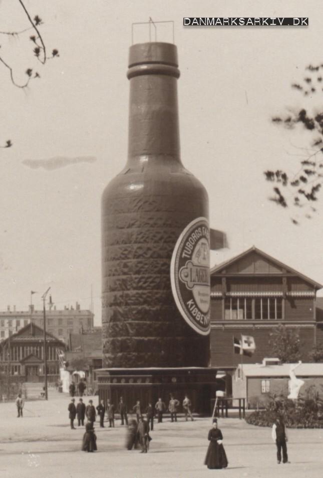 Tuborgflasken ved Den Nordiske Industri-, Landbrugs-, og Kunstudstilling - 1888