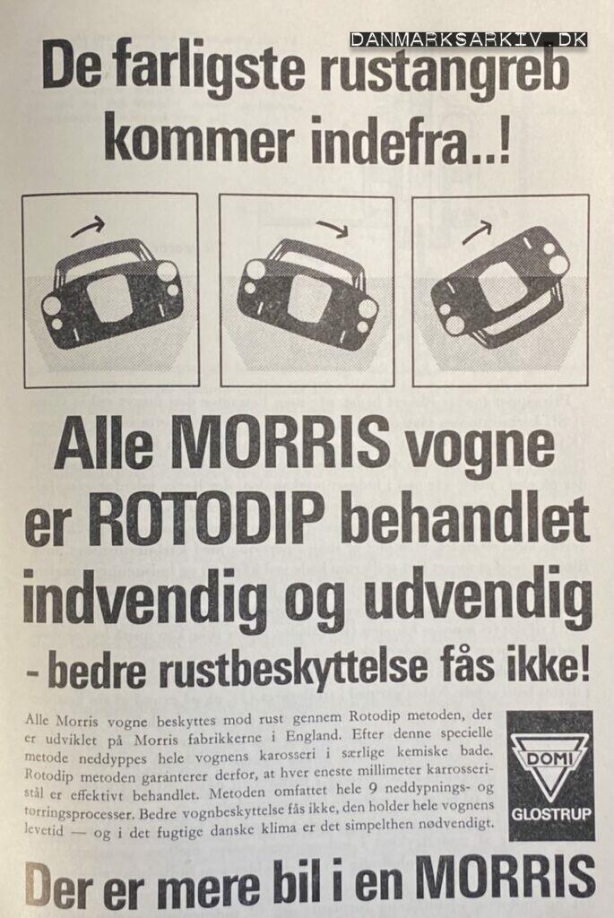 Morris - Rustbeskyttede biler - DOMI - 1960'erne