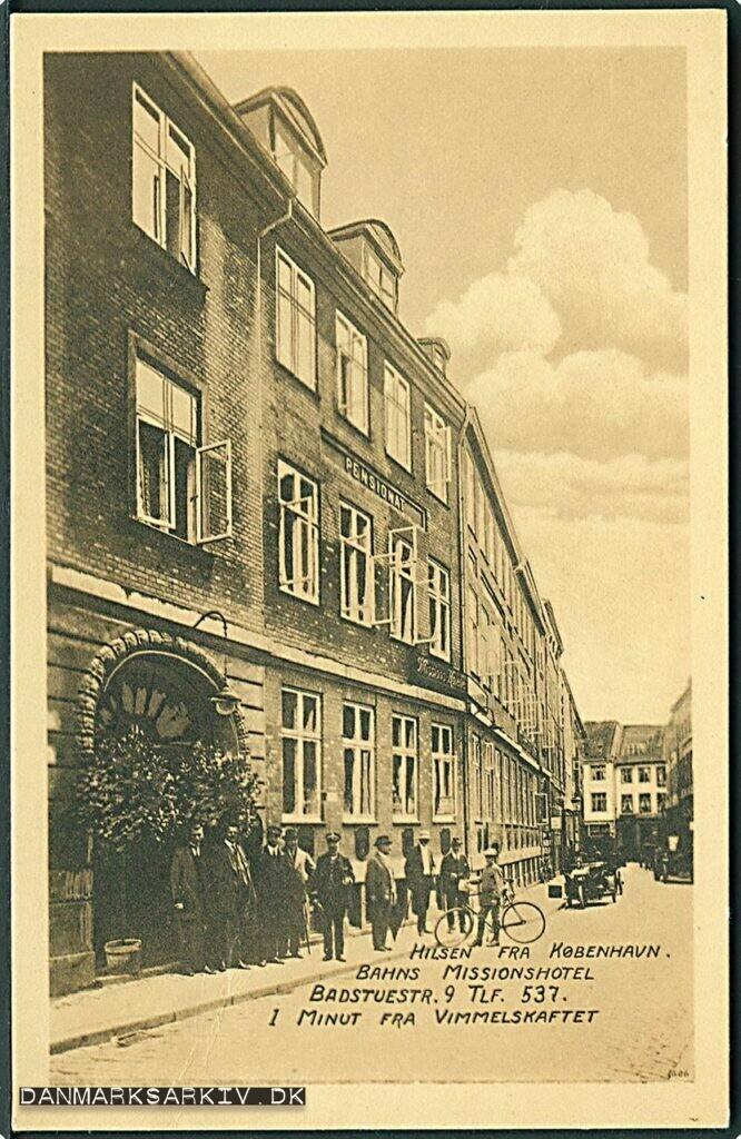 Bahns Missionshotel - Postkort fra Badstuestræde
