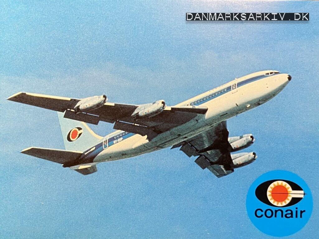 Conair of Scandinavia - Boeing 720 - Postkort