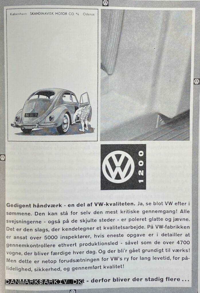 VW 1200 - Scandinavisk Motor Co - 1960'erne