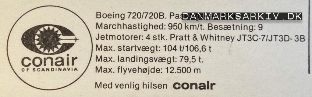 Conair of Scandinavia - Boeing 720