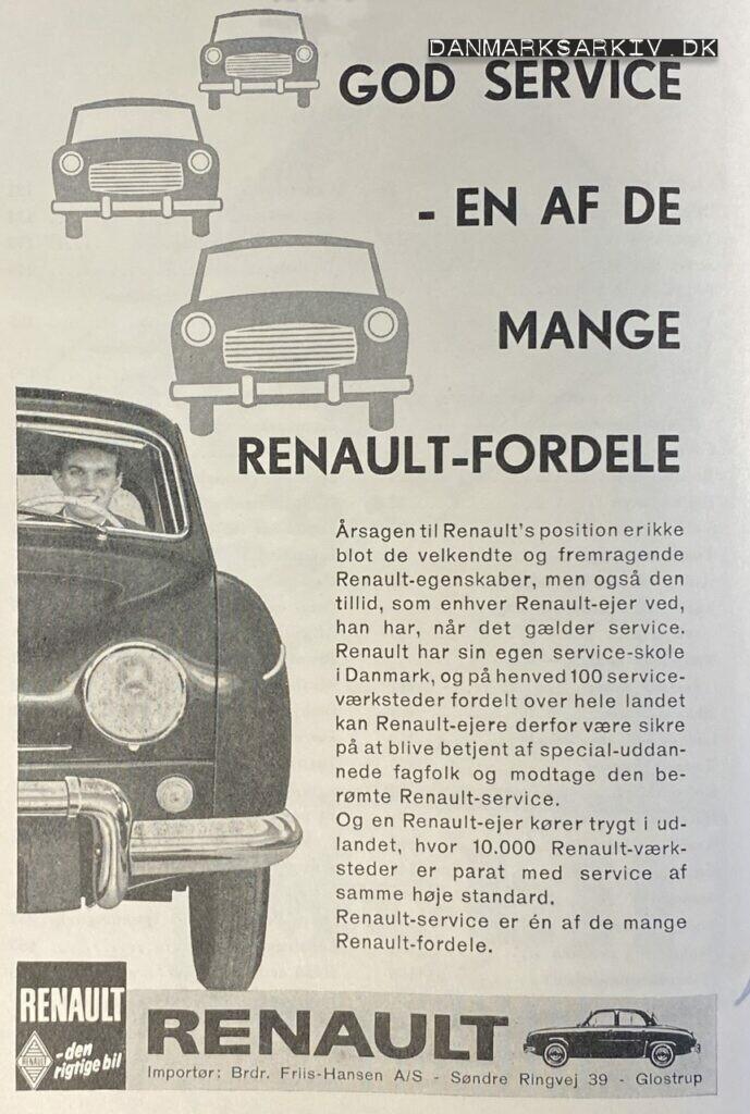 Renault - Brdr. Friis-Hansen A/S - 1960'erne