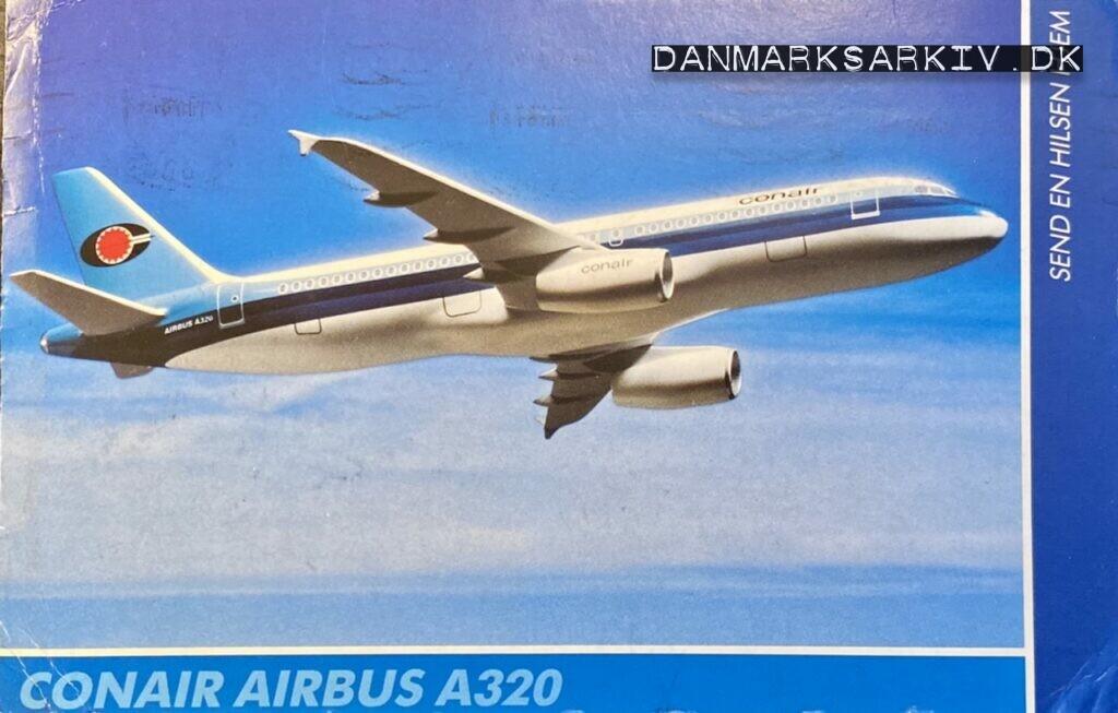 Conair Airbus A320 - Postkort