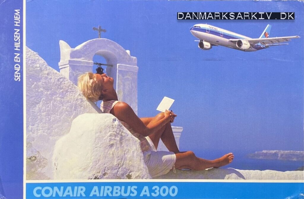 Conair of Scandinavia - Airbus A300 - postkort