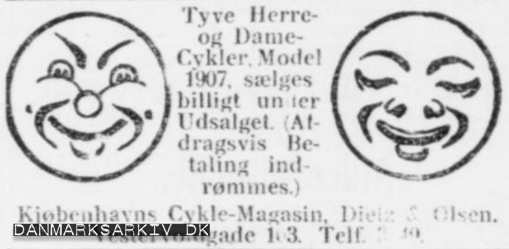 Udsalg hos Kjøbenhavns Cykle-Magasin - 1908