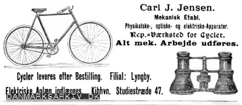 Carl J. Jensen - Physikalske-, optiske- og elektriske-apperater - 1898