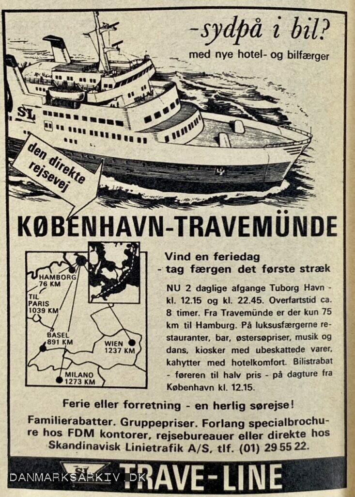 Trave-Line - Sydpå i bil? med nye hotel- og bilfærger - 1968