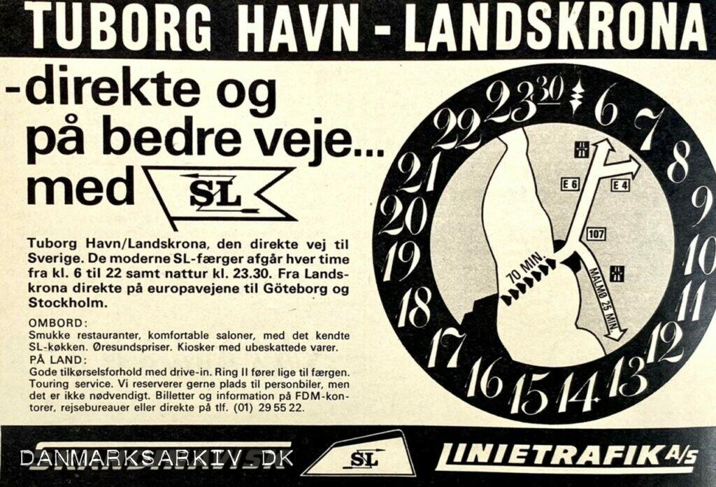 Skandinavisk Linietrafik - Tuborg Havn-Landskrona, den direkte vej til Sverige
