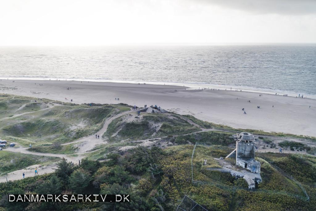 Tyske bunkere på stranden ved Blåvand