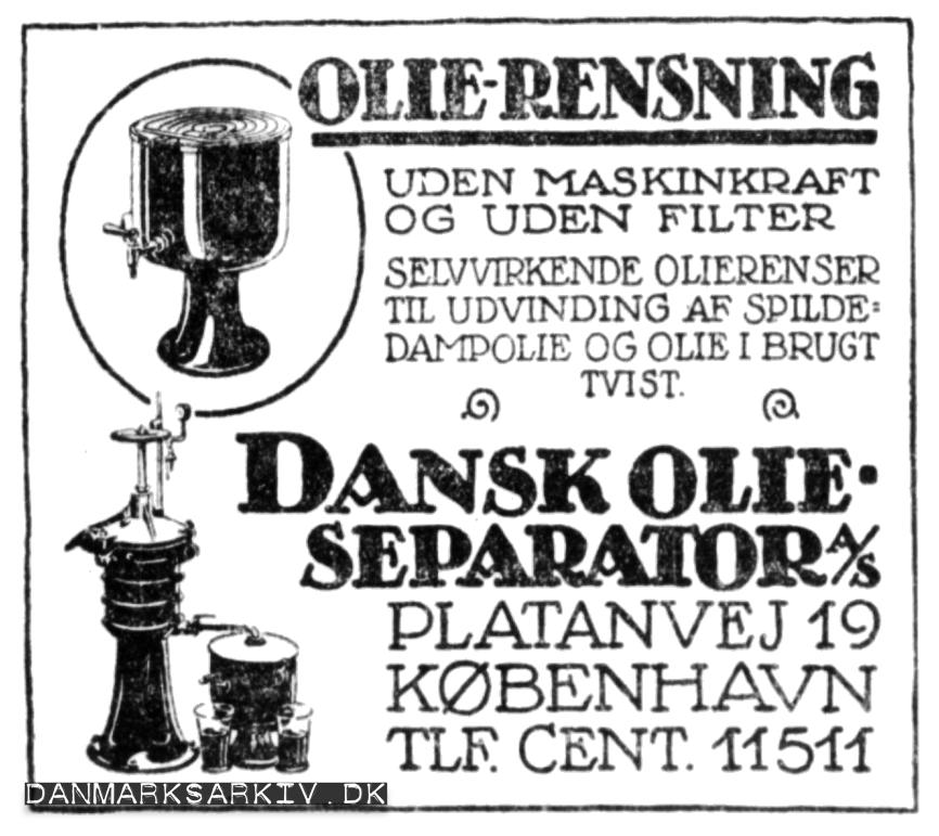 Dansk Olieseperator A/S - Olierensning uden maskinkraft og uden filter - April 2019
