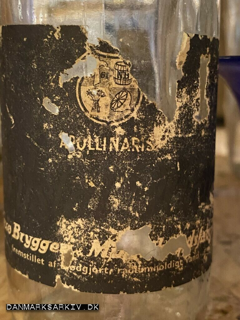 Apollinaris med blødgjort radiumholdigt vand, fra Nexø Bryggeri & Mineralvandsfabrik