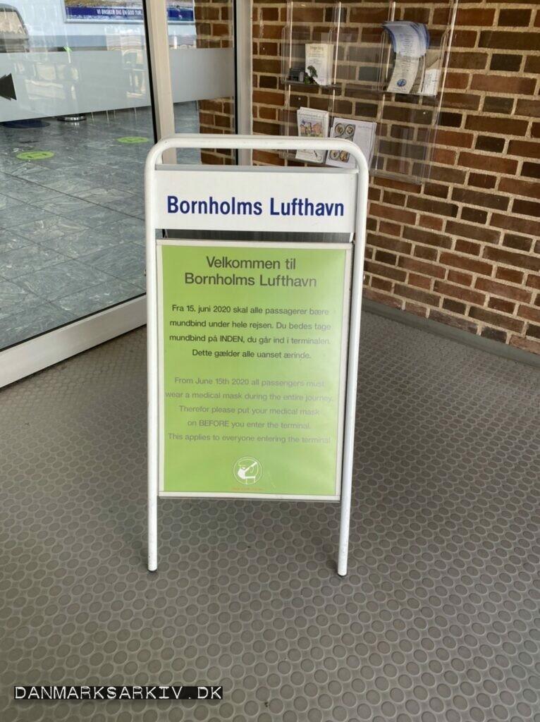 Regler for adgang til Bornholms Lufthavn - Covid-19 - 2021