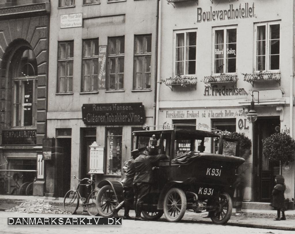 Boulevardhotellet, Rasmus Hansen, Kemp & Lauritzen - 1911