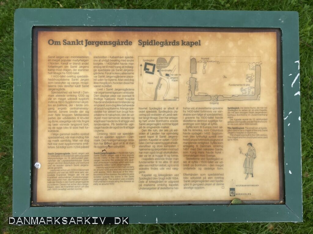 Kapel ruinen ved Sankt Jøgensgården Spidegård - Aakirkeby, Bornholm