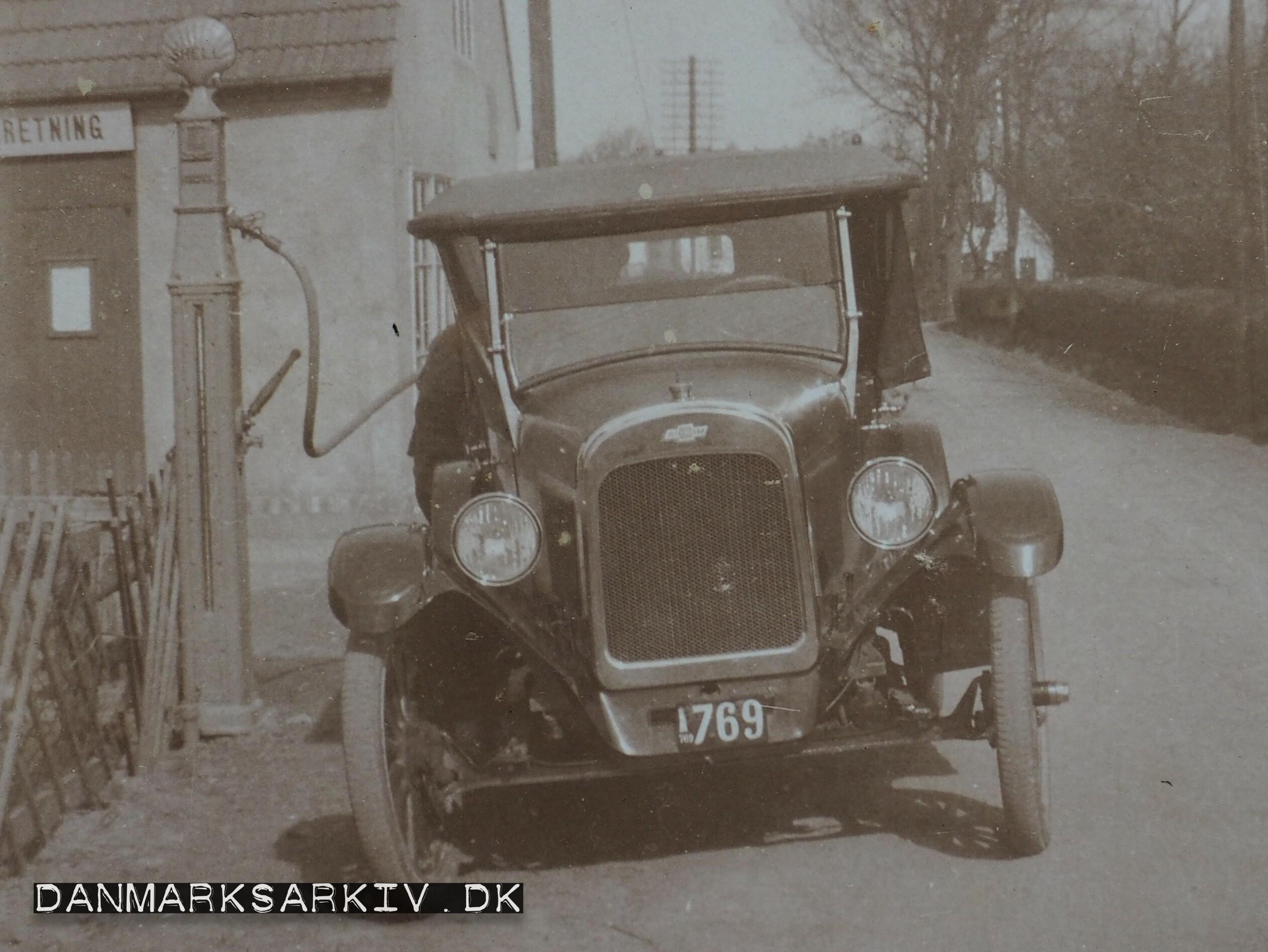 Chevrolet tankes fra Lobbæk Cykleforretnings Shell tank - 1923
