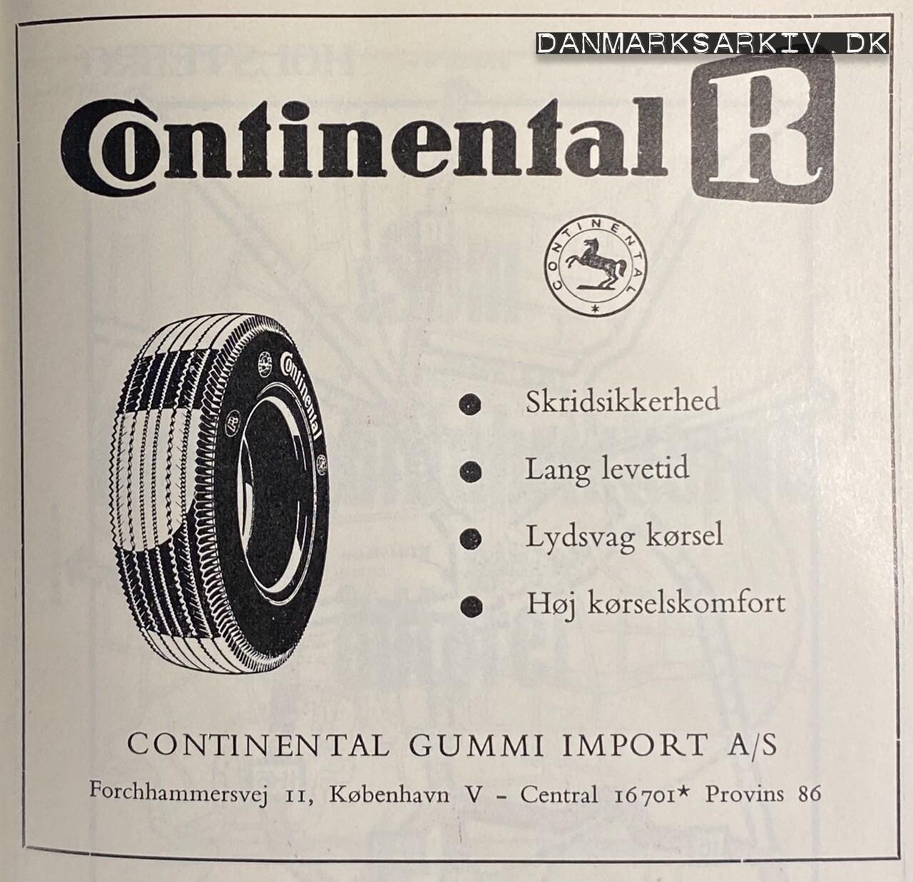Continental R - Continental Gummi Import A/S - 1960'erne