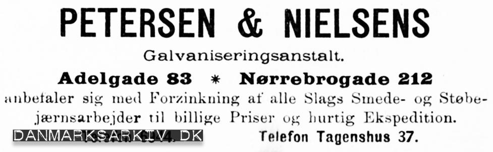 Petersen & Nielsens Galvaniseringsanstalt - 1900