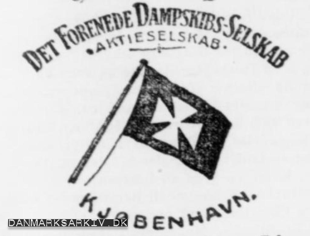 Det Forenede Dampskibs-Selskab - Aktieselskab - Kjøbenhavn - 1907
