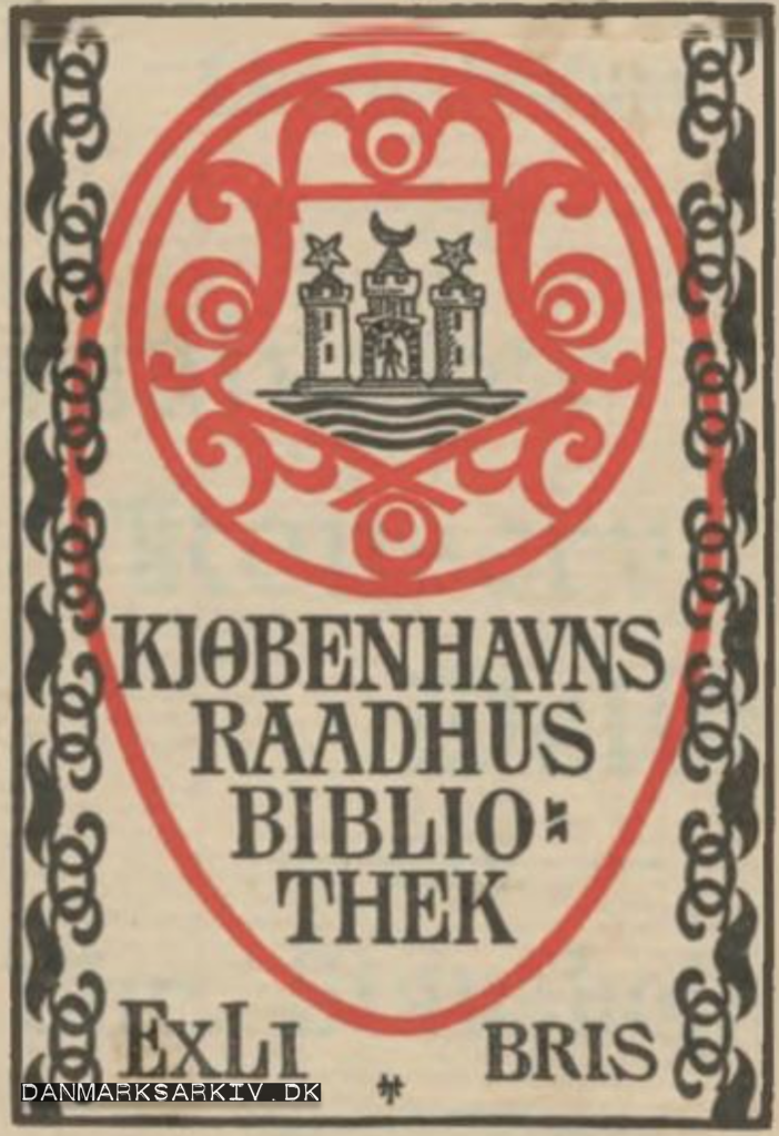 Kjøbenhavns Raadhus Bibliotek - 1898