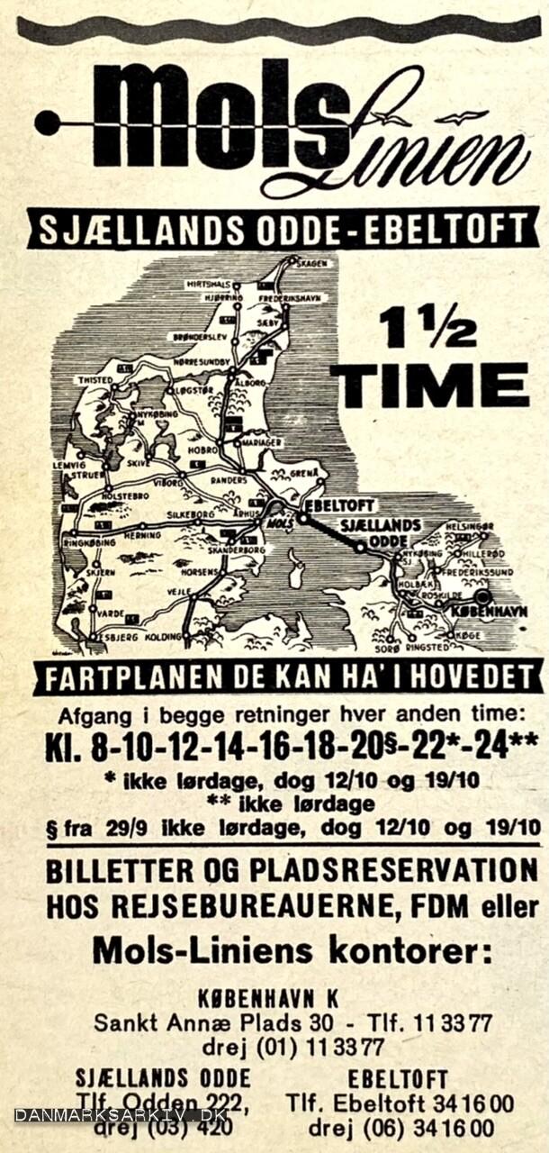 Molslinien - Sjællands Odde-Ebeltoft 1,5 time