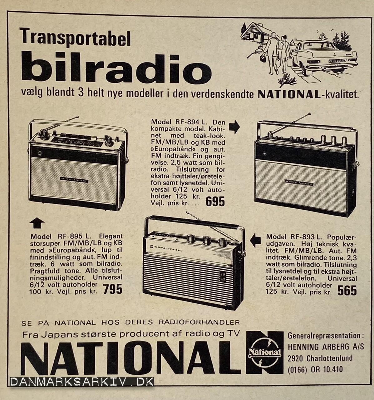 National - Transportabel bilradio - Henning Arberg
