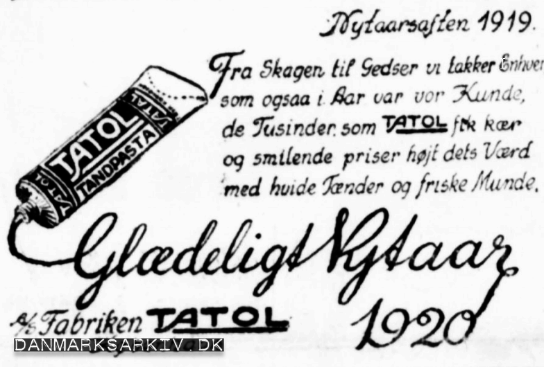 Tatol reklame - Nytår 1920