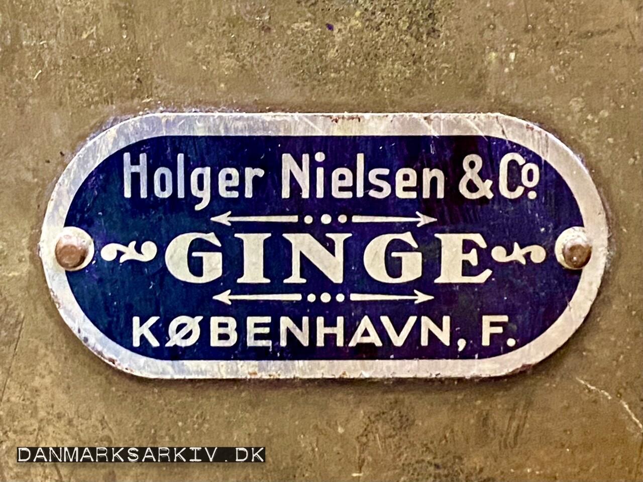Holger Nielsen & Co - Ginge - København F
