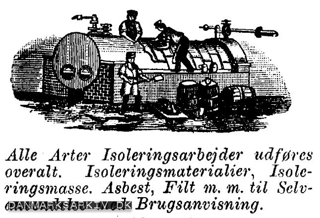Dansk Isoleringsfabrik - Asbestfilt til selvmontering med Brugsvejledning - 1915