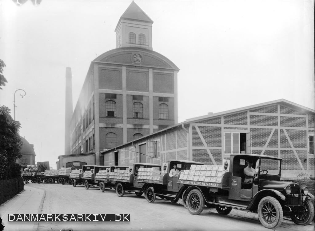 De Danske Cichoriefabrikkers fabrik i Valby - 1923